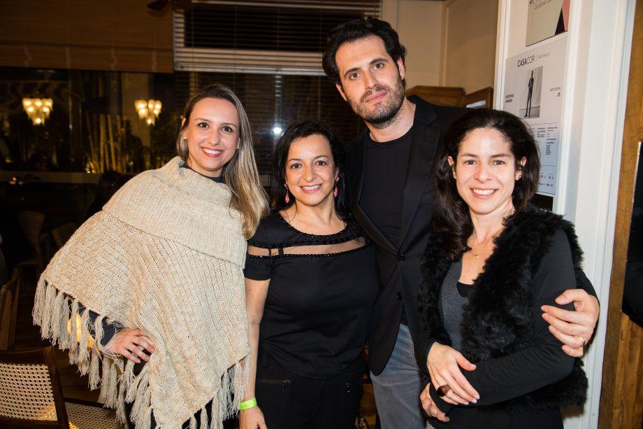 Elaine Santana, Ana Lucia Salama, Flavia Damiani e Maicon Antoniolli