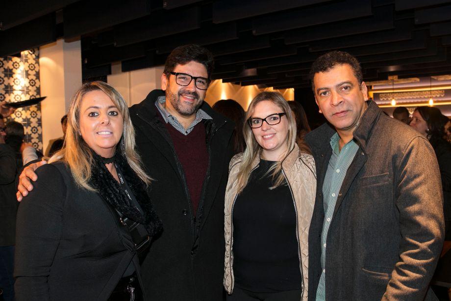 Ana Paula Porto, Darlan Firmato, Priscila Perez e Pedro Ariel Santana