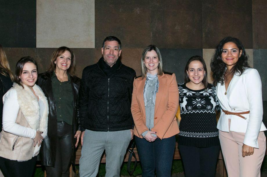 Tassia Pereira, Carolina Boiane, Marisa Comin, Luiz Paulo Andrade, Lucilla Mesquita e Thaisa Pereira