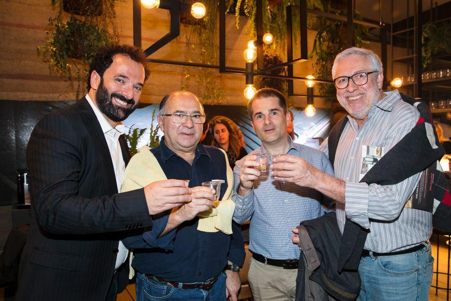 Rui Dzialoschinsky, Renato Francisco, Matjaz Cokan e Marcos de Abreu Pereira