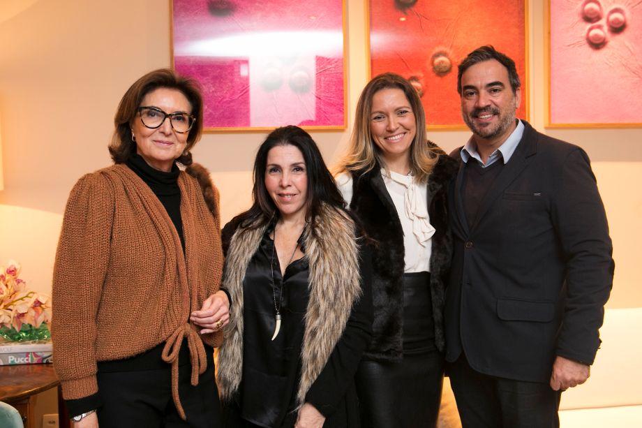 Cristina Ferraz, Paola Ribeiro, Elenice Cardoso e Cadu Torres