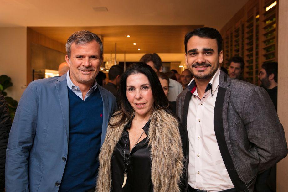 David Benavente, Paola Ribeiro e Matheus Gonçalves