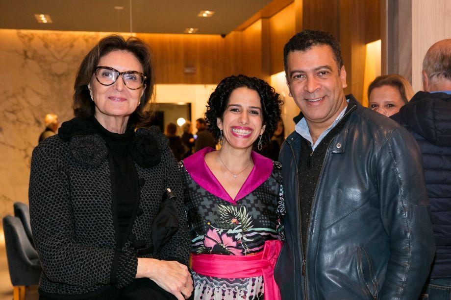 Cristina Ferraz, Sandra Picciotto e Pedro Ariel Santana