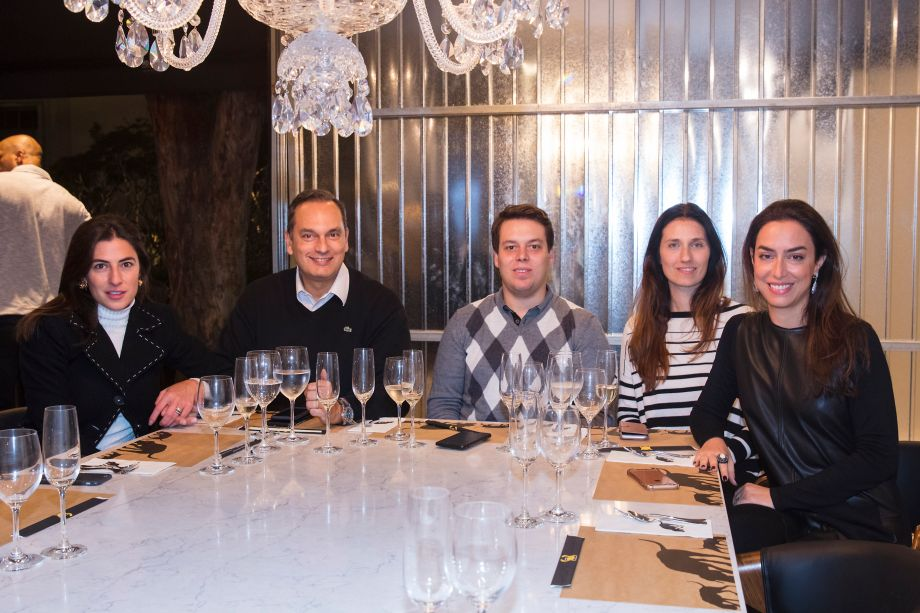 Andrea Françolin, Sergio Vilas Boas, Felipe Rodrigues, Christine Rodrigues e Fernanda Cestari