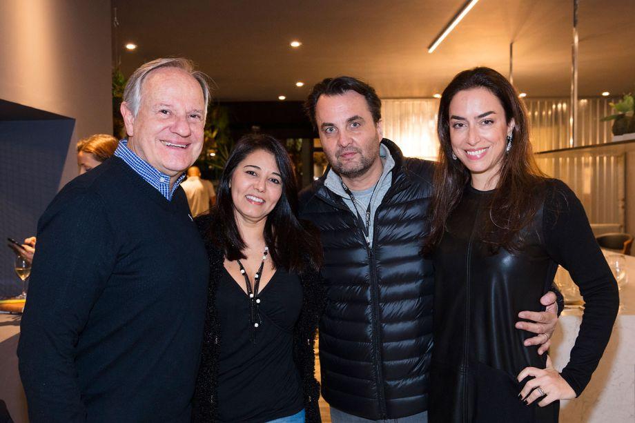 Rubens Barrichello Junior, Gisele kohashikawa, Lalo Zanini e Fernanda Cestari