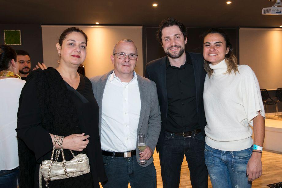 Patricia Marra, André Carvalho, Renato Guiderolli e Rubia Chedid