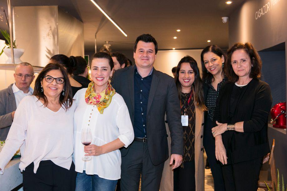 Lourdes Bottura, Carolina Lopes, Marcelo Fogaça, Priscilla Saraiva, Cleide Gomes e Patricia Quentel