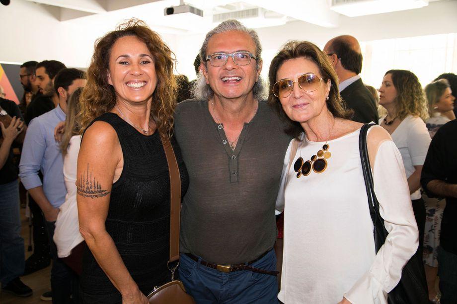 Monica Barbosa, Jorge Elias e Cris Ferraz