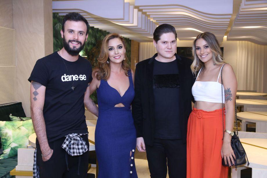 Daniel Moreira, Lídia Branquinho, Marcus Leite e Isabelle Souza