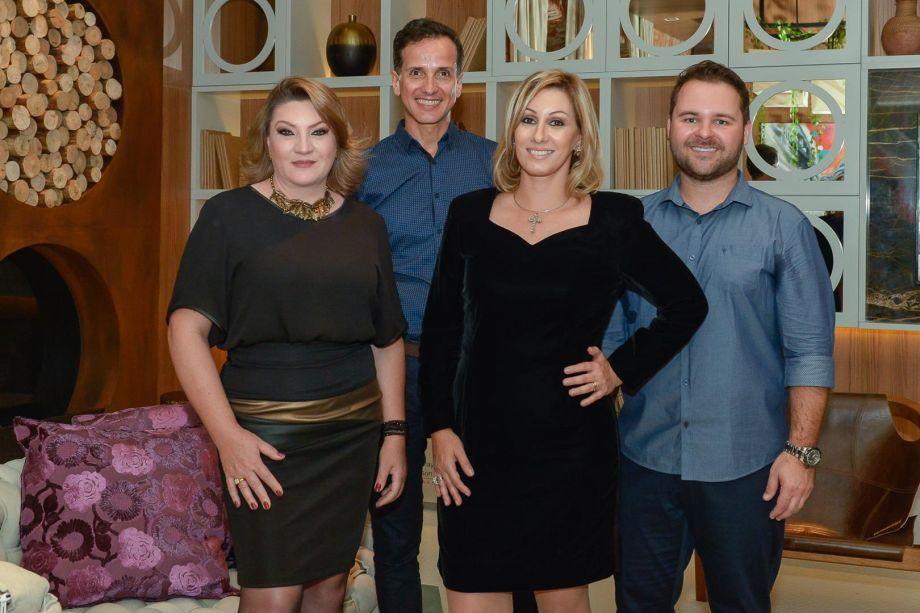 Janaina Kretzer, Alejandro Garcia, Anna Maya e Anderson Schussler.
