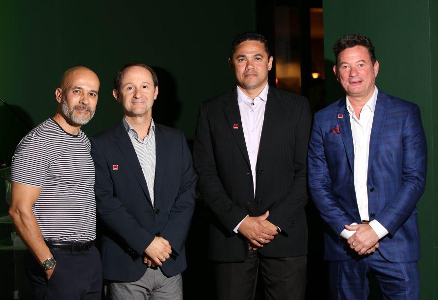Ney Lima, César Cini, Marcos Valério Piu e Pedro Paulo Duque Estrada