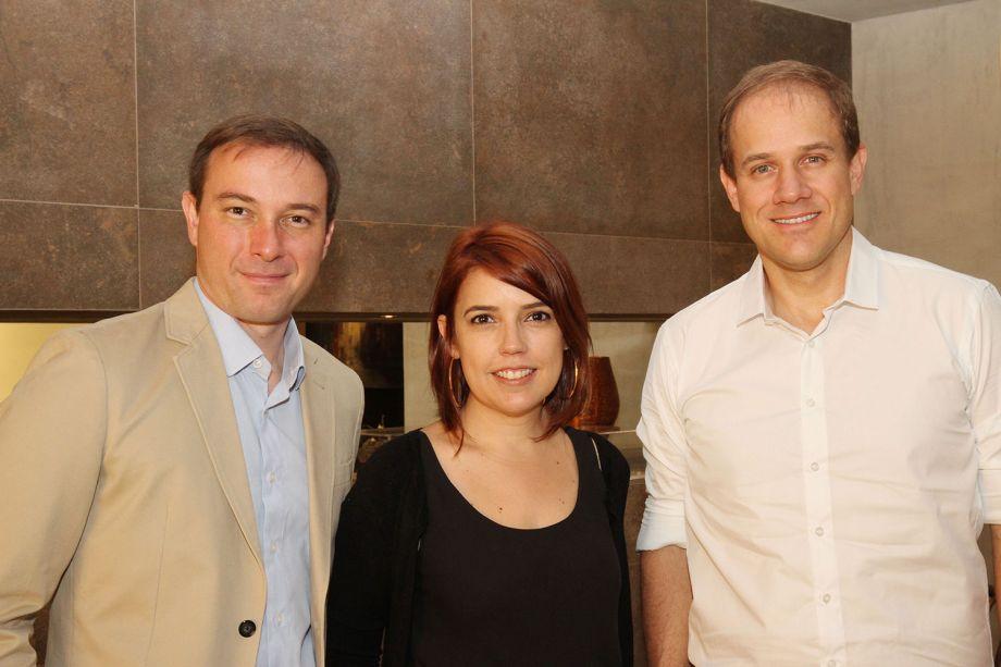 Sérgio Peres, Laura Oliveira e Gustavo Assunção