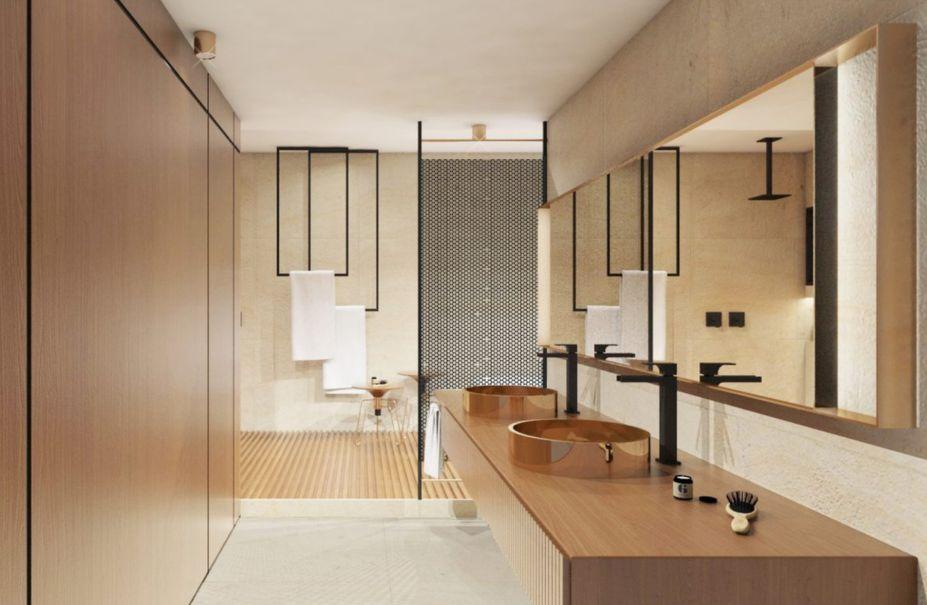 1º lugar na categoria Design de Interiores - Banheiro de Jogador de futebol por Amanda Freitas Lopes