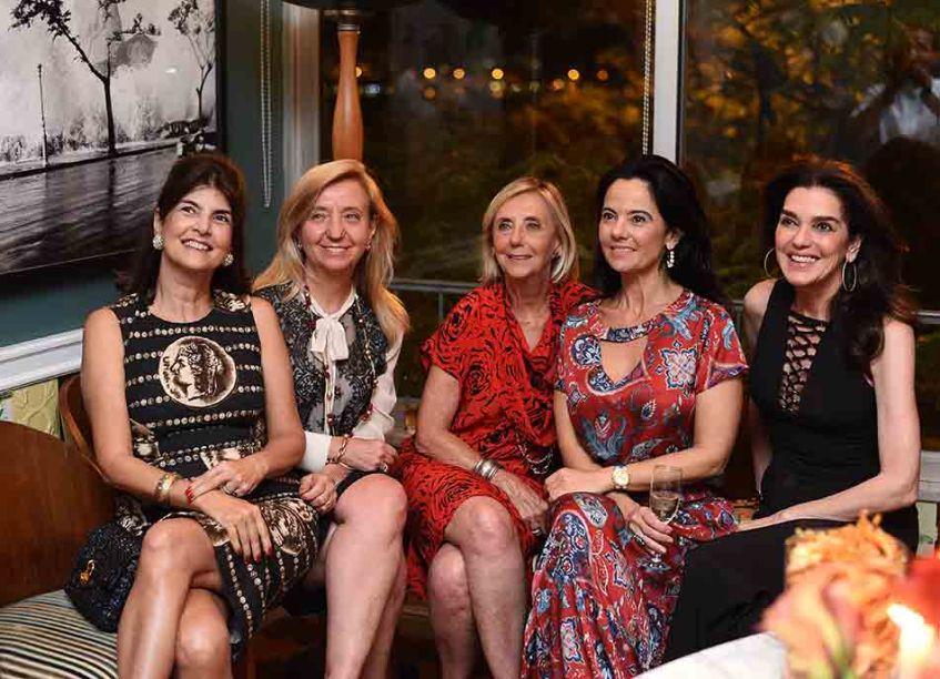 Anna Ramalho, Viviane Grabowsky, Maria Ines Bastos, Teresa Seiler, Maria Cristina e Beth Accurso