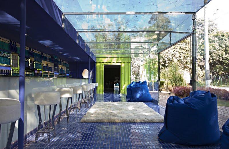 Casa Container na CASACOR São Paulo 2011, assinada pela arquiteta Brunete Fraccaroli