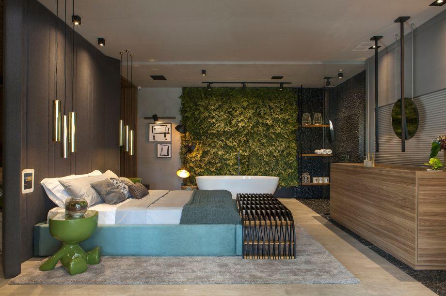 Loft do Designer - Alex Bonilha e Mahely Oliveira. A dupla buscou unir as necessidades profissionais e pessoais de um designer em um único espaço confortável.