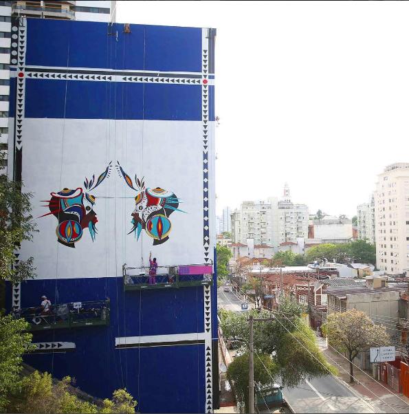 <span>Tainá Lima, mais conhecida como a grafiteira Criola é de Belo Horizonte, MG. Ela usa seus grafites como forma de expressar a ancestralidade africana e como manifestação do poder feminino.</span>
