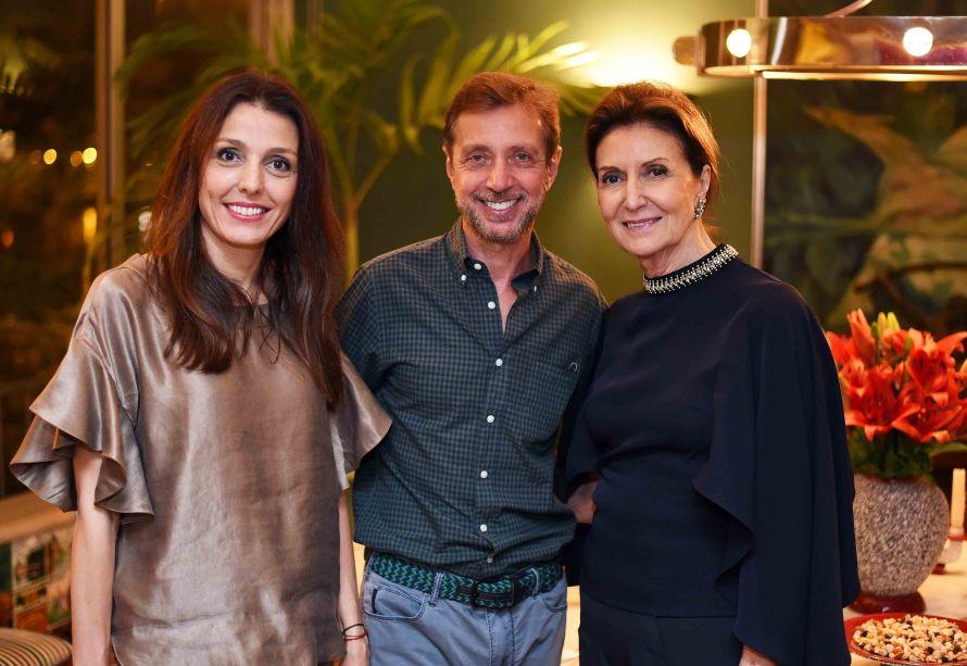 Cristina Bava, Nando Grabowsky e Cristina Ferraz