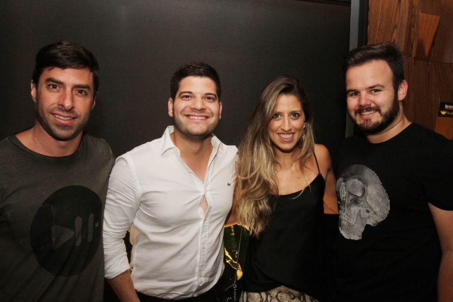 Erick Ribeiro, Jefferson Coelho, Gabriela Gontijo e Plínio Barros