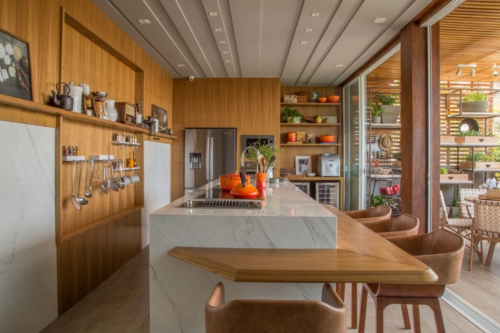 cozinha casacor vintage retrô madeira detalhes