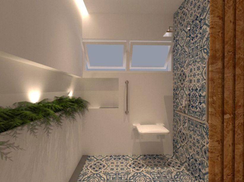1º lugar categoria Design de Interiores - Banheiro Home Care por Natalia Lacerda Prado