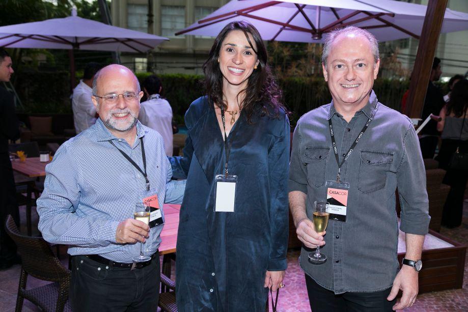 Maurício Siqueira, Graziela Caroli e Mauricio Calixto