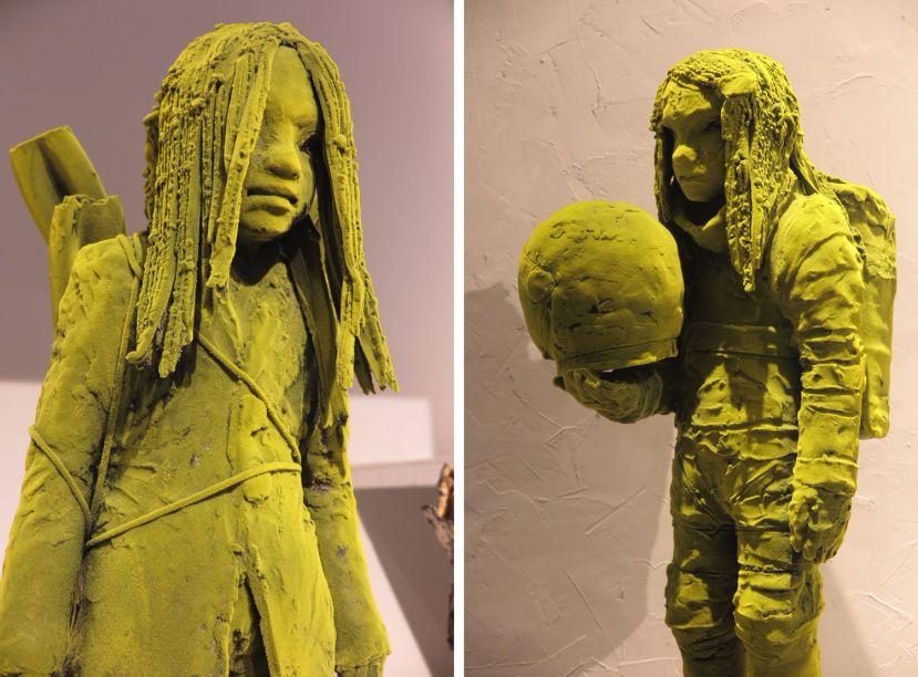 <strong>Design Miami:</strong> esculturas da série Moss People na norte-americana Kim Simonsen.