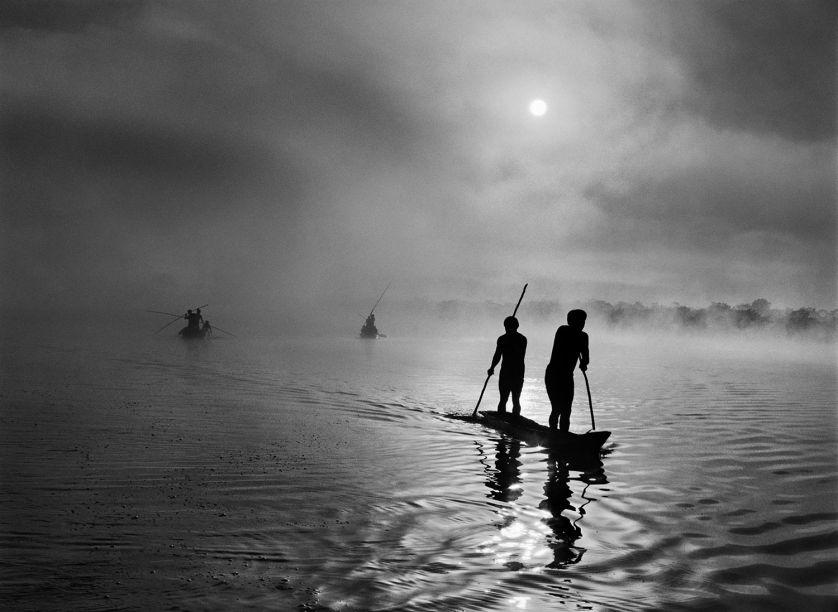 A pesca indígena na região da bacia do Xingu.