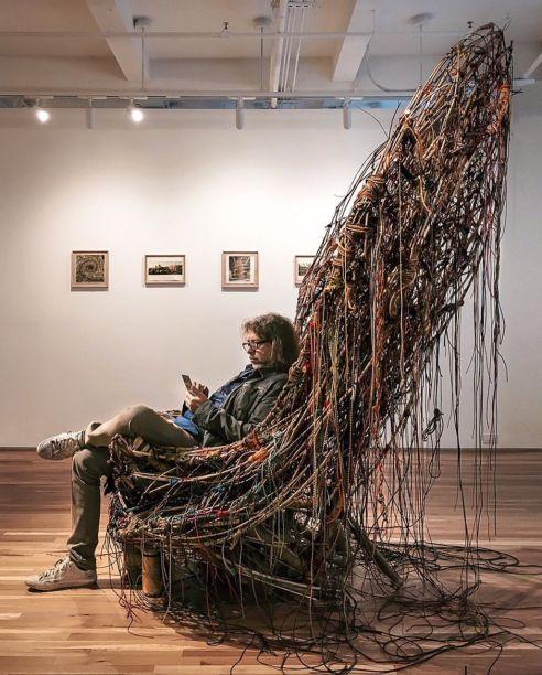 Cadeira de Mike Starn: Cristina Grajales Gallery
