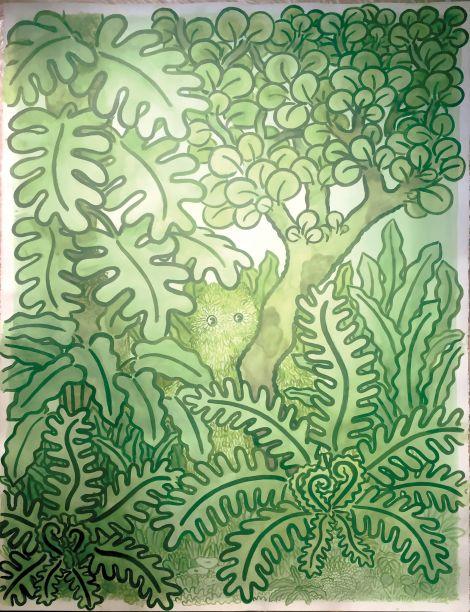 Nicole Salcedo - Um artista interdisciplinar que se inspira na natureza e nas emoções humanas. Seus desenhos e pinturas à base de plantas visam criar uma paisagem selvagem e lúdica mais acessível e já estiveram em edições da CASACOR Peru.
