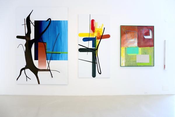 Trabalhos de Albert Oehlen e Martin Kippenberger