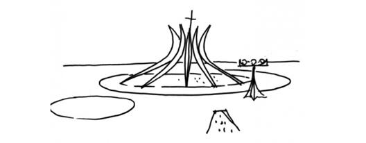 A bela Catedral Metropolitana de Nossa Senhora Aparecida foi o primeiro monumento erguido em Brasília, apesar da inauguração ter acontecido somente em 1970. Com uma estrutura de dezesseis colunas de concreto que se unem em disposição circular, ela recebe os visitantes um nível abaixo, presenteando-os com as luzes que entram pelos vitrais em todos os lados.