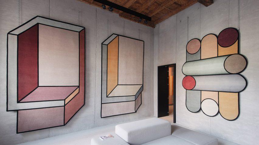 ilusão de ótica tapete patricia urquiloa design