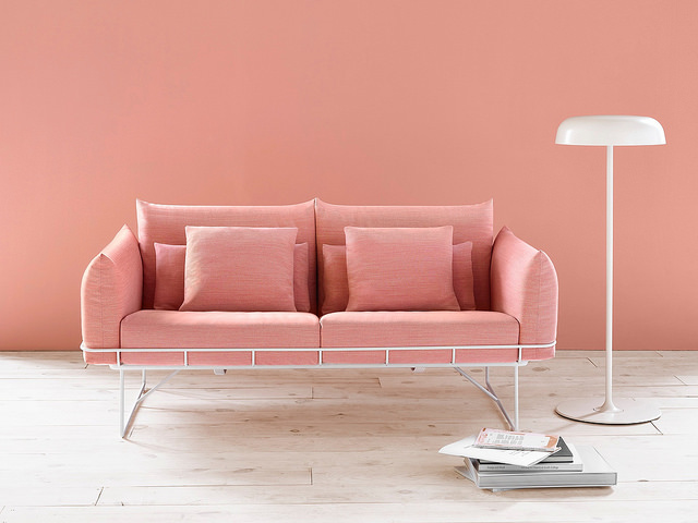 Sofá Wireframeproduzido pela Herman Miller