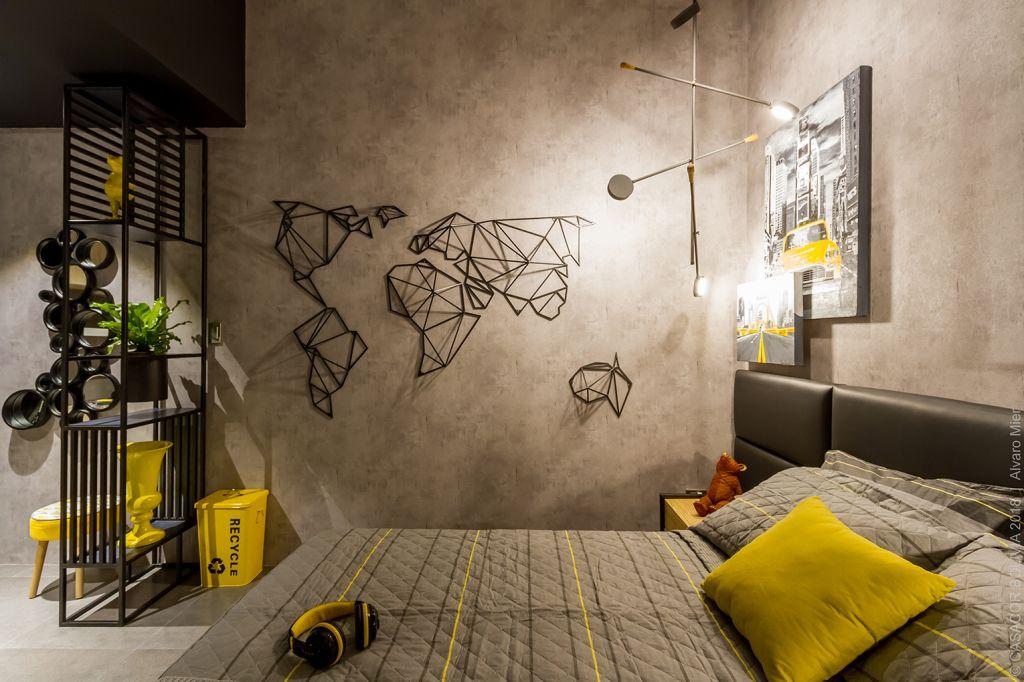 casacor; bolivia; cinza e amarelo; decoração; cores pantone 2021