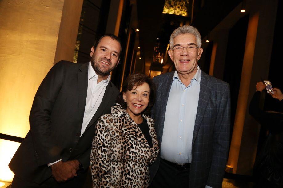 Bruno, Nadia e Olavo Setubal