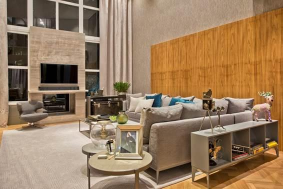 Ambiente de Mariana Paula Souza, a Modern House, como o nome sugere, usa a tecnologia em favor do conforto. Um piso aquecido, mantas e cortinas garantem temperaturas amenas dentro da casa.