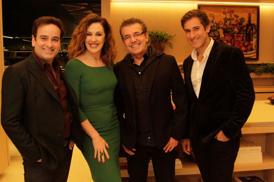 Ricardo Minelli, Claudia Raia, Roberto Migotto e Fábio Berbari