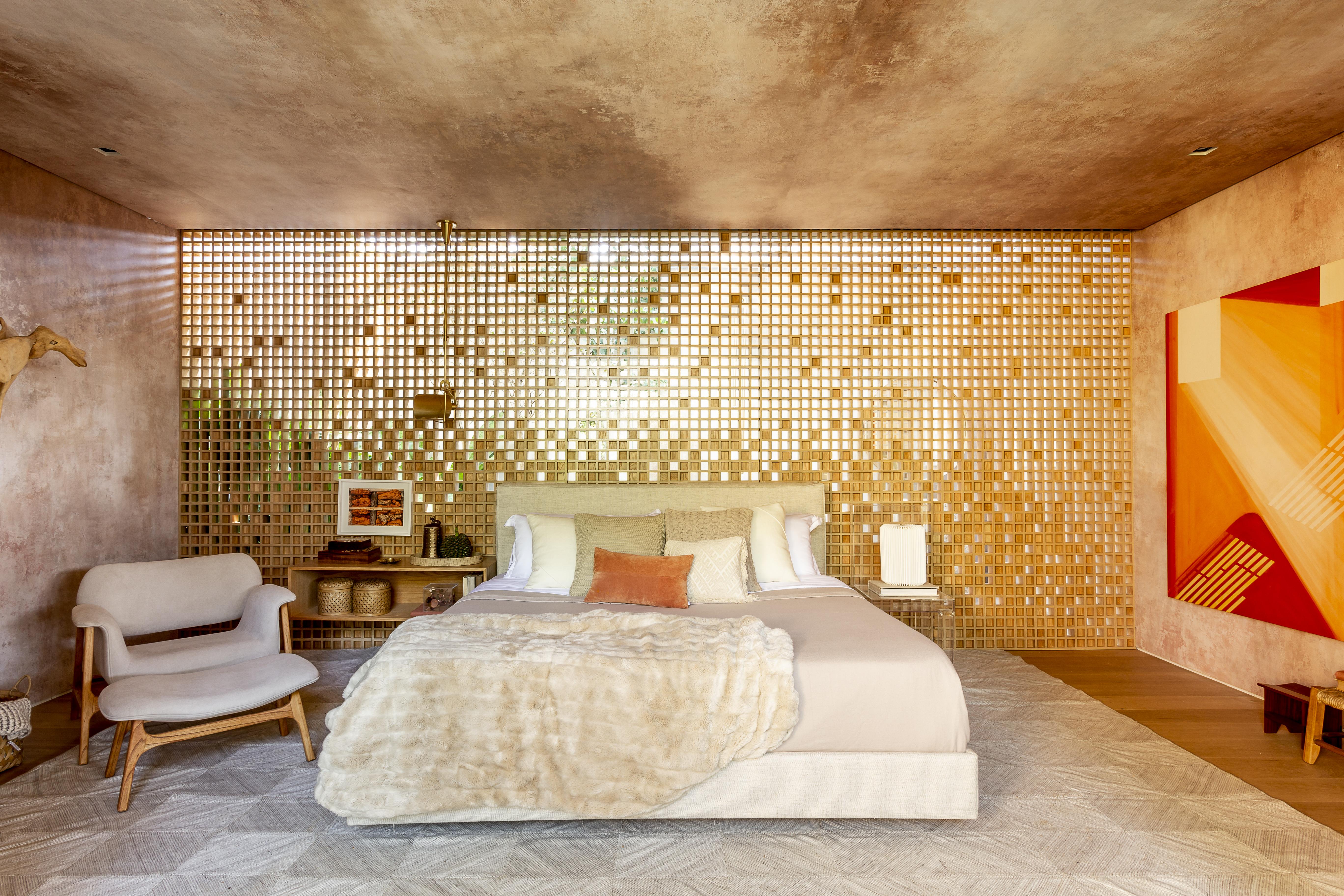 casacor sao paulo quarto cama madeira decoracao casa arvore suite