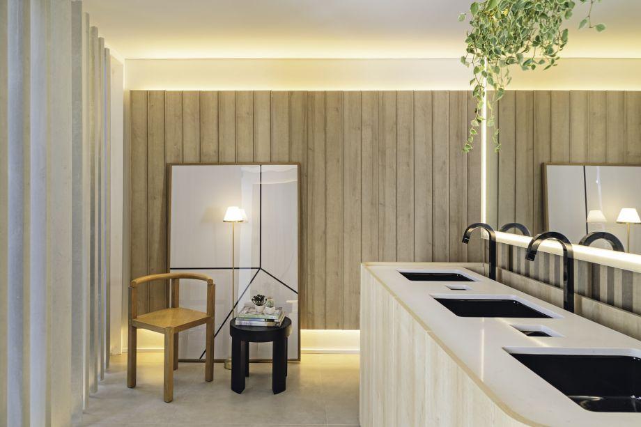 <strong>Cozinha e Banheiro:</strong> GDL Arquitetura – Recinto do Bosque