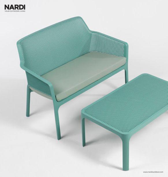 Nardi – a marca especializada em mobiliário para áreas externas apresenta, na feira, a linha Net Bench. Além dela, o público poderá conferir as coleções Riva e Net Relax, lançadas recentemente no mercado brasileiro.