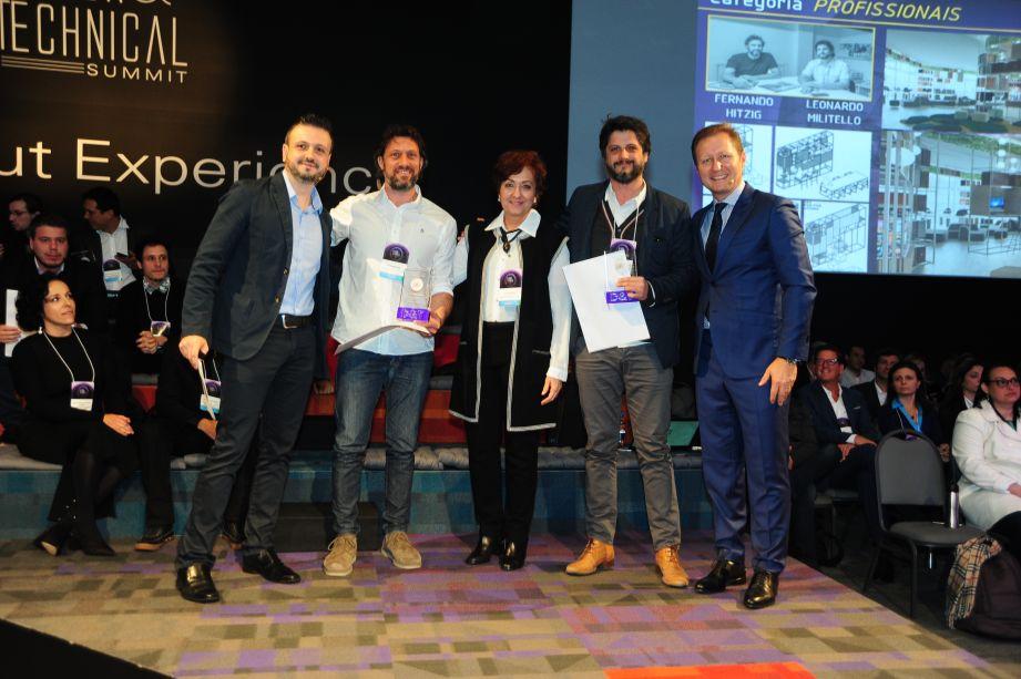 Categoria Profissionais (da esquerda para a direita): Fernando Mariante, Fernando Hitzig, Silvana Mattar, Leonardo Guido Militello, Paulo Mancio