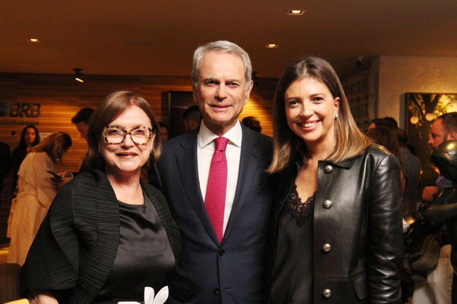 Cláudia Pereira, Paulo Octávio e Anna Christina Kubitscheck