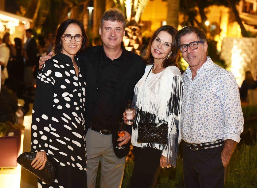 Gisele Taranto, Glauco Taranto, Patricia Mayer e Jairo de Sender