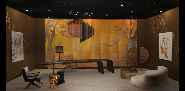 O Precioso Escritório – Thierry Lemaire. É possível perceber vários estilos no escritório de Lemaire: veludo bordado, uma longa mesa de carvalho, couro e latão são dispostos lado a lado em perfeita harmonia de contrastes.