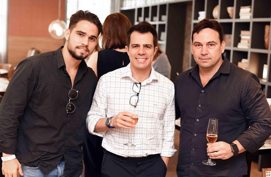 Mateus Pinheiro, Luis Fernando Amorim e Matias Pinheiro.