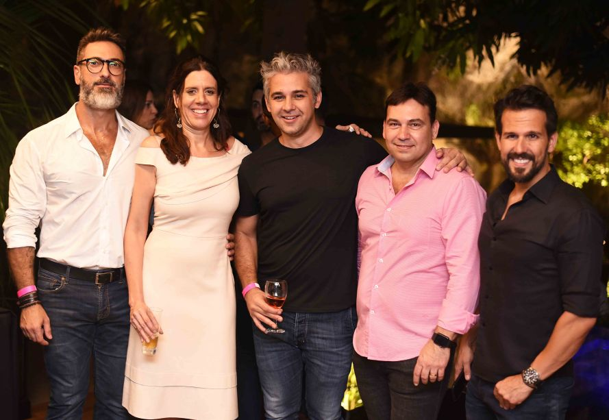 Fabio Cardoso, Camila Avelar, Fabio Barcellos, Matias Pinheiro e Bruno Carvalho