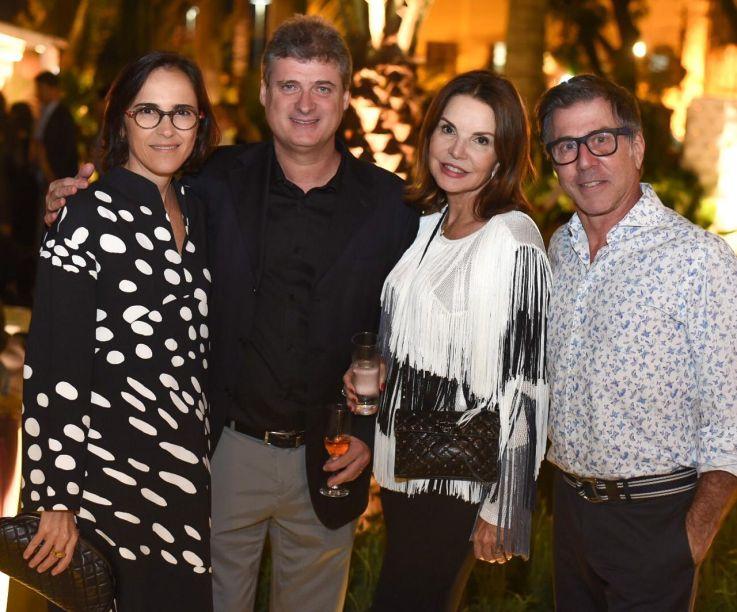 Gisele e Glauco Taranto, Patricia Mayer e Jairo de Sender.