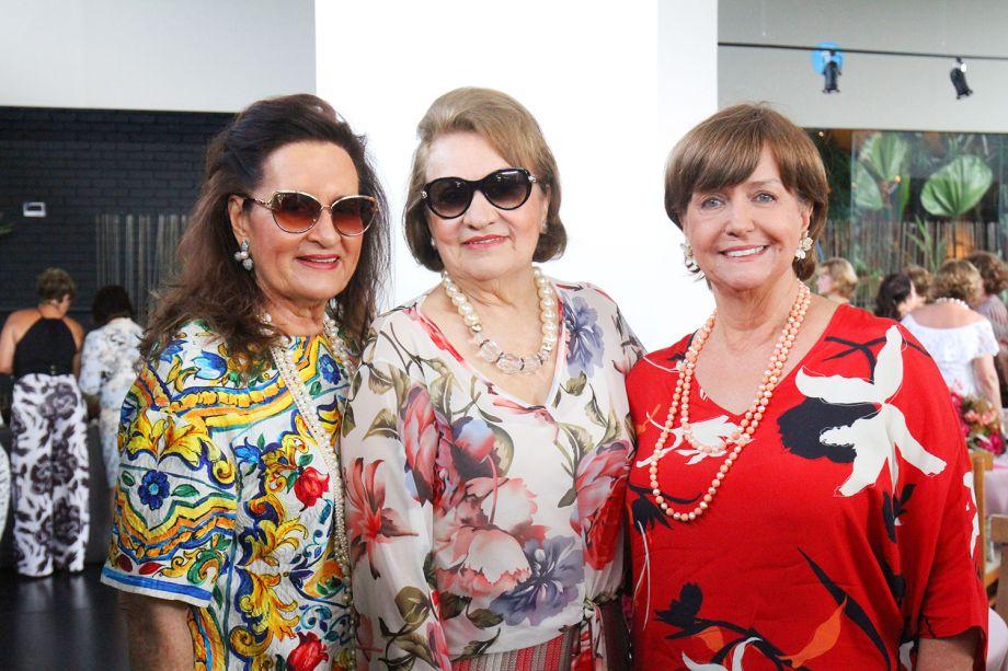 Gitana Lira, Marly Nogueira e Maria Helena Gomide.