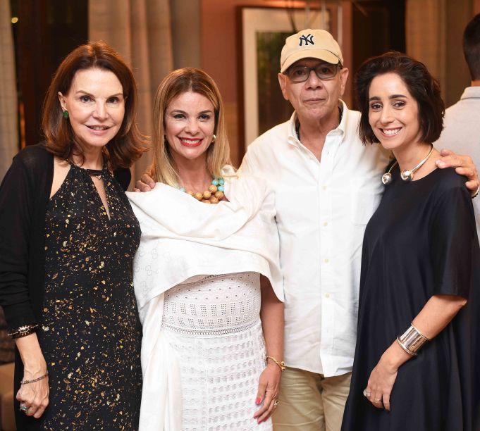 Patricia Mayer, Carla Pimentel, Caco Borges e Antonia Leite Barbosa